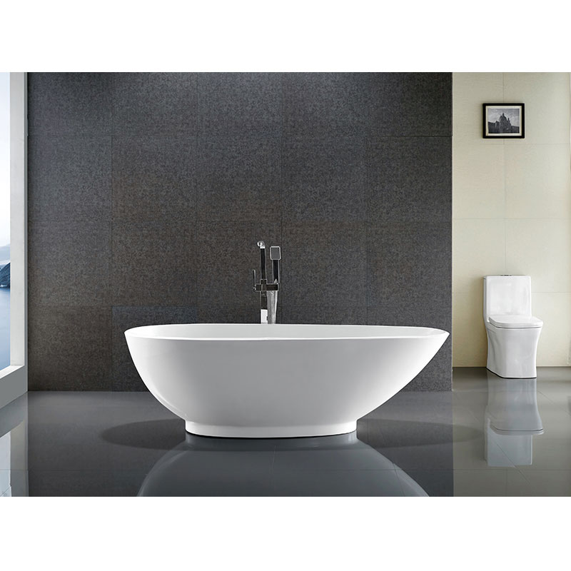 What types of bathtubs are classified by material?