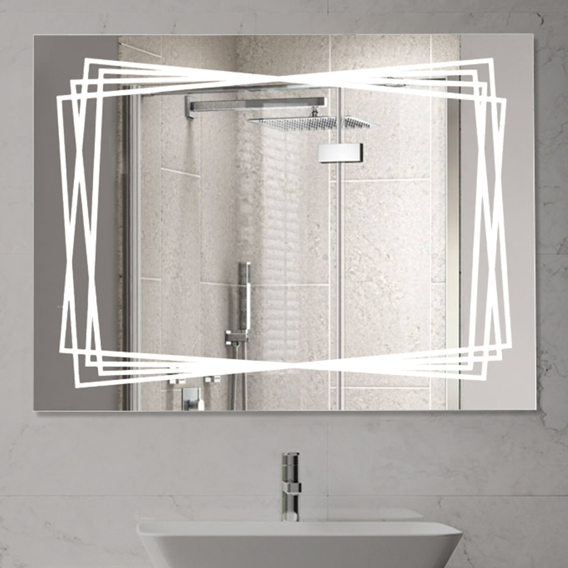 How to clean the bathroom vanity mirror with mildew? What are some tips