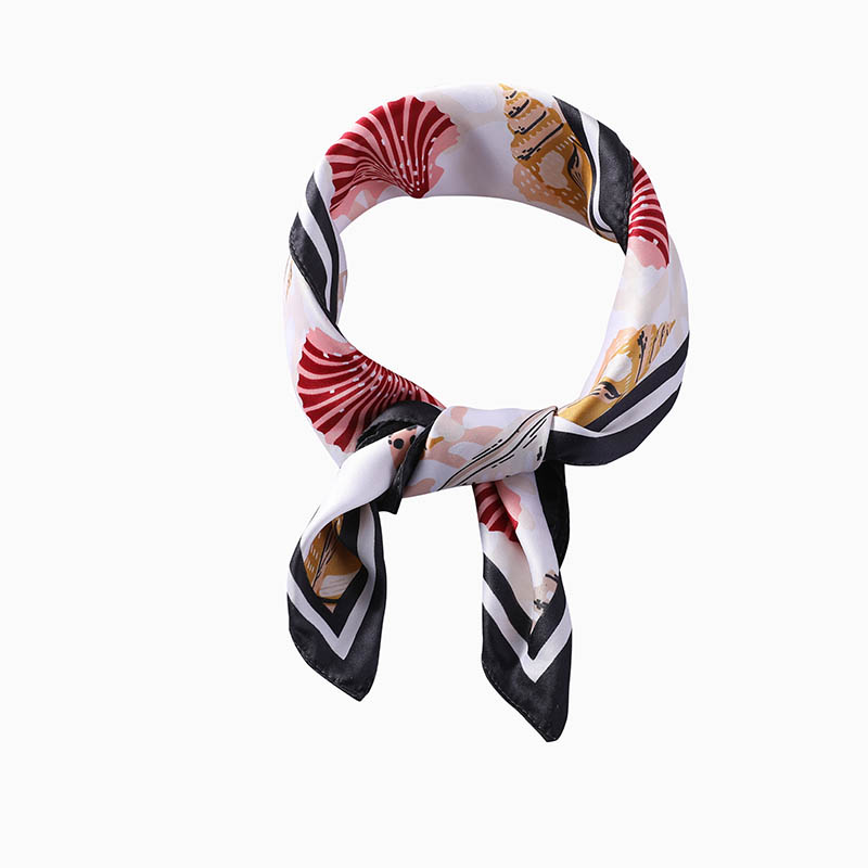 How many common ways to wear silk scarf