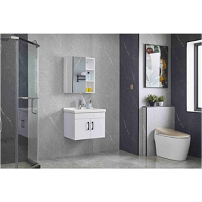 What is the bathroom cabinet whose base material is particleboard
