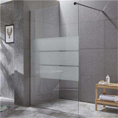 Why must the shower enclosure use tempered glass