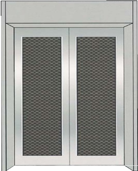 What are the performance characteristics of the machine room-less passenger elevator
