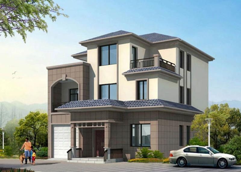 Light steel structure villa