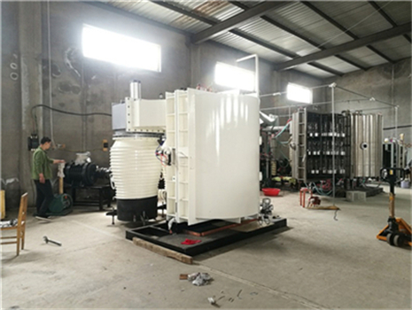 What is the function of the chiller in the vacuum coating machine