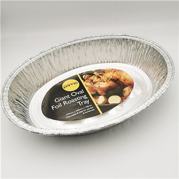 What are the tips for putting aluminum foil tray in the oven