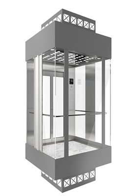 What should be considered when designing the glass cover of the MRL observation elevator