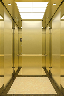 What are the performance characteristics of the MRL machine room-less passenger elevator