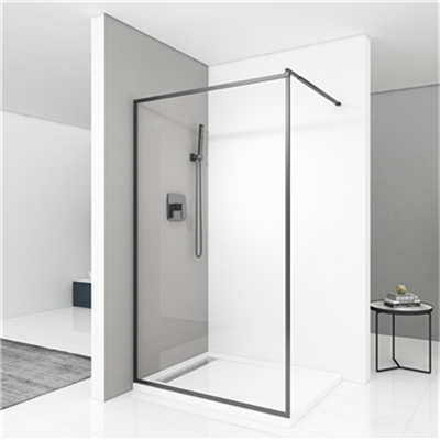 What are the requirements for the materials of the shower enclosure
