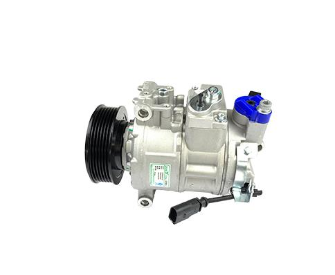 What inspections should be done when using automobile air-conditioning compressors