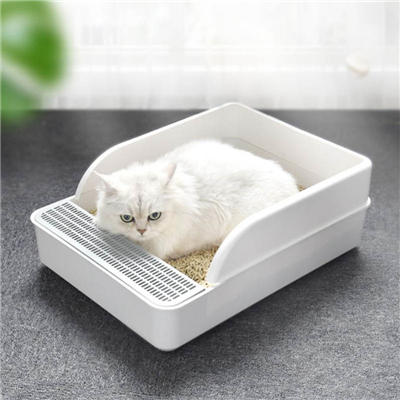 Where should the litter box in cat products be placed