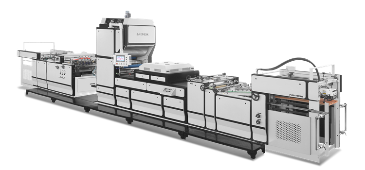 The main structure of the pre-coating type laminating machine
