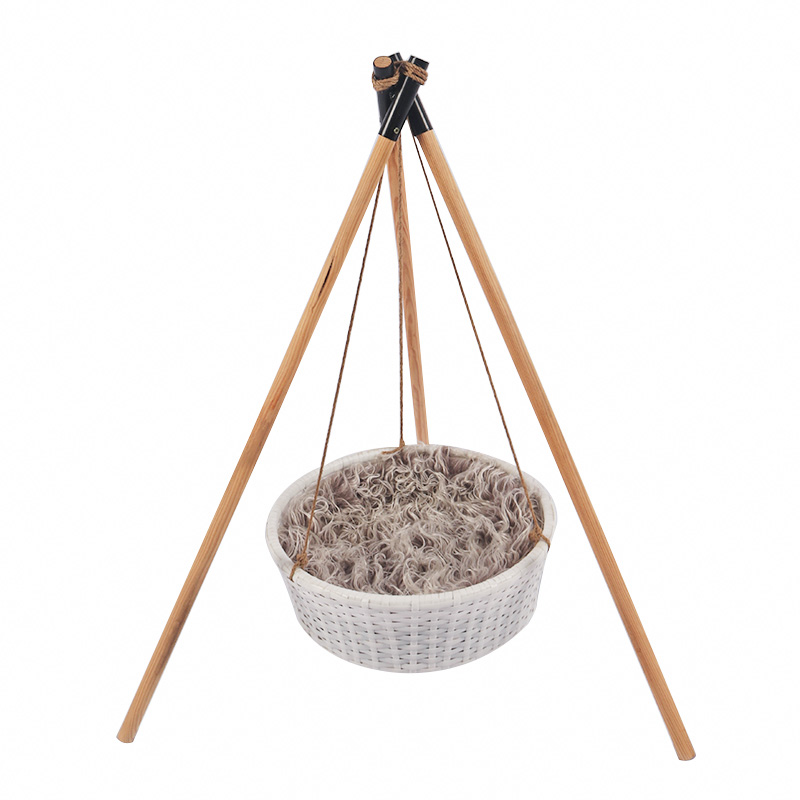 A tripod cat basket