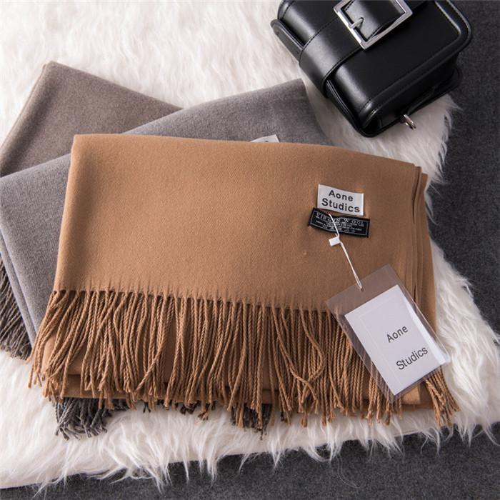 color plain cashmere scarves