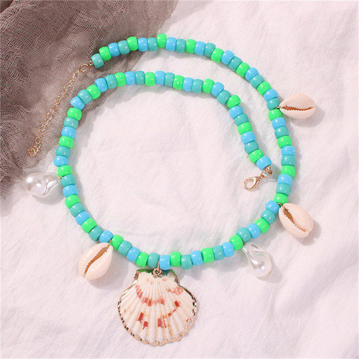 Colorful Beads Letters Necklace