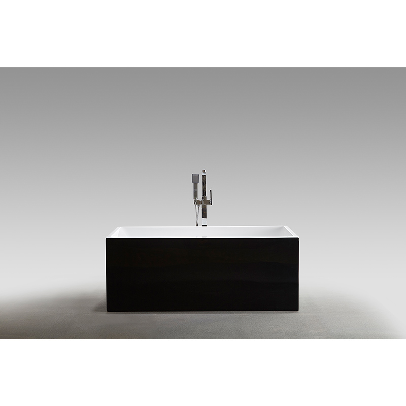 Luxury tubs in bathroom black arcylic