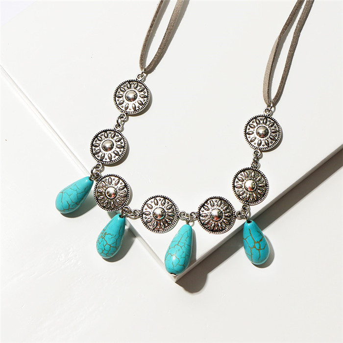 Natural Turquoises Necklace for Women