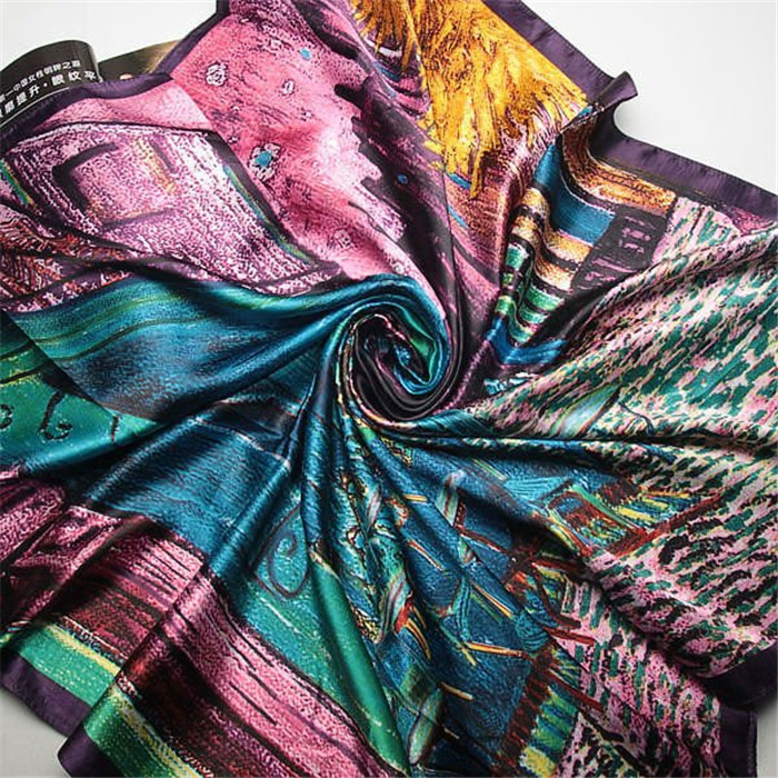 Square Scarves Spring Summer Shawls For Ladies