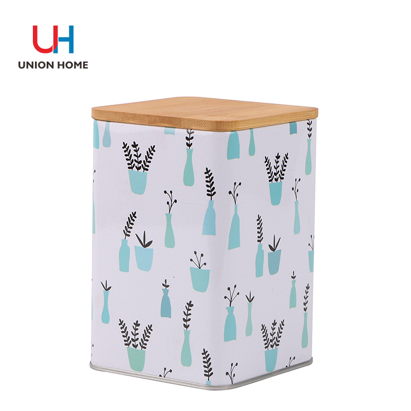 Bamboo cover storage cube
