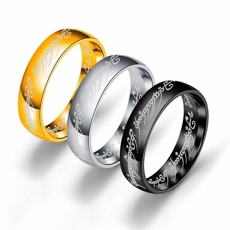 Titanium steel ring Lord of the rings