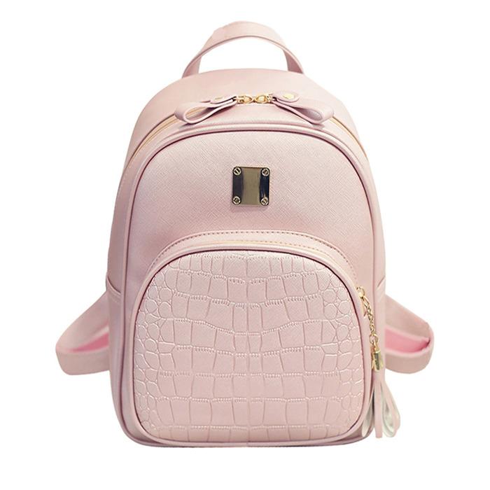 Women backpack leather school bags