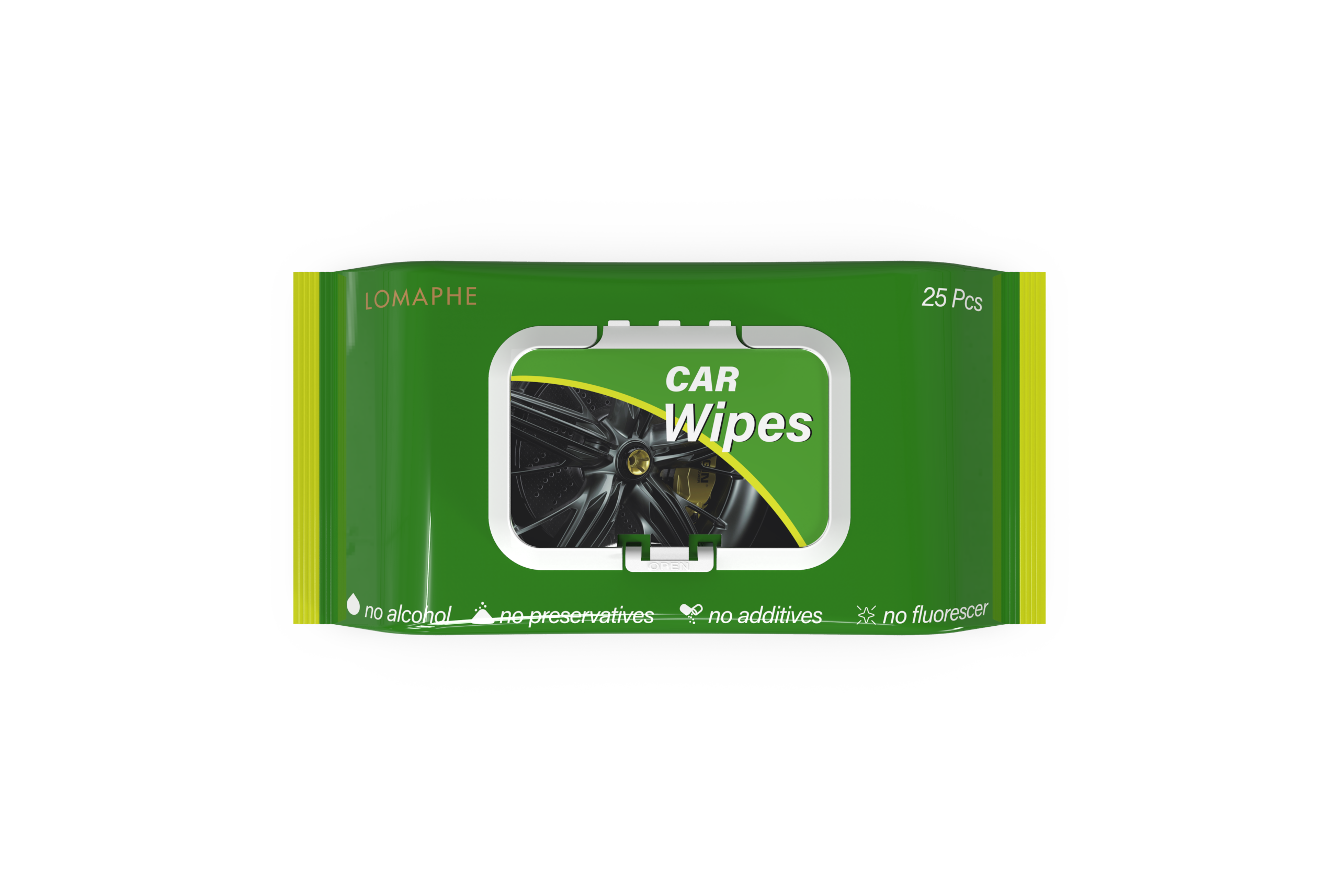 Interior car auto cleaning wipes