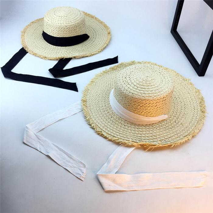 Bind straw hat