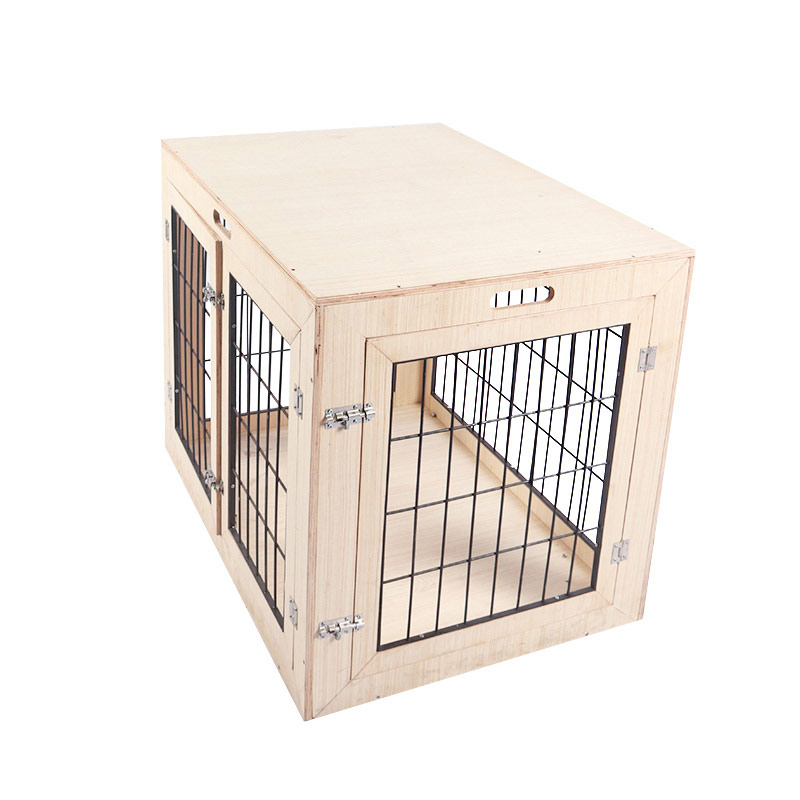 Solid wood cat cage