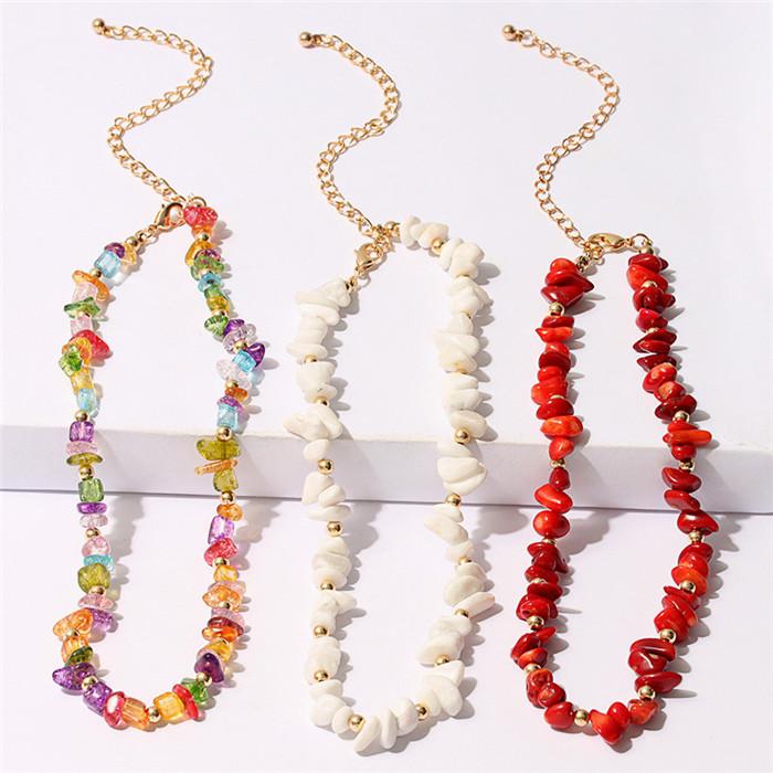 Colorful Beads Turquoises Choker