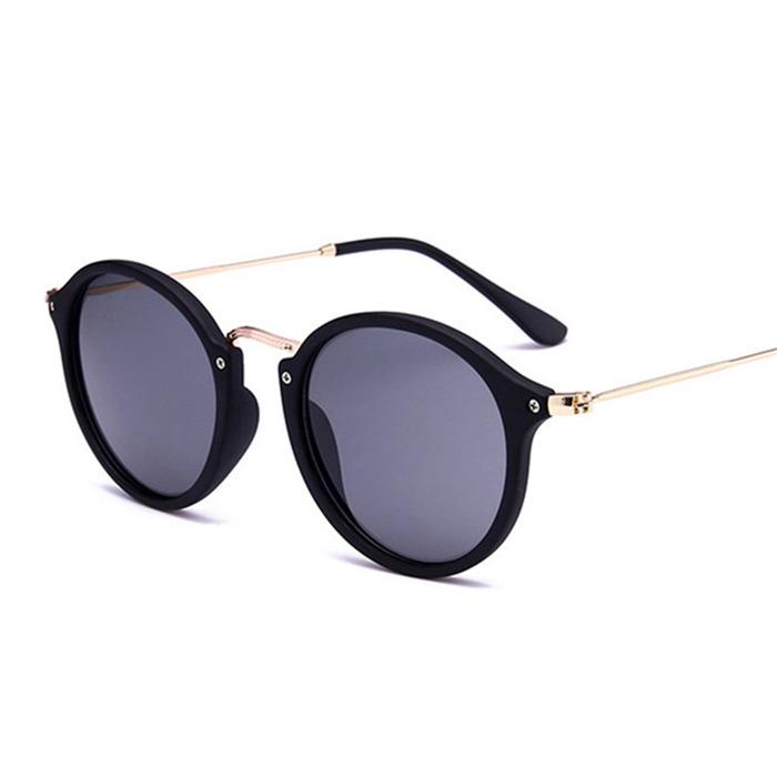 Round Sunglasses Retro Men Women Brand