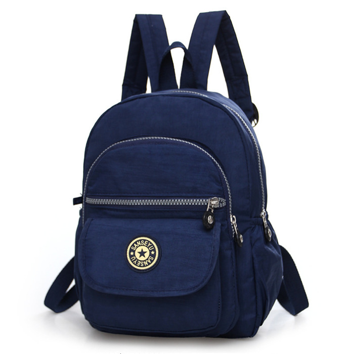 Contracted nylon backpack