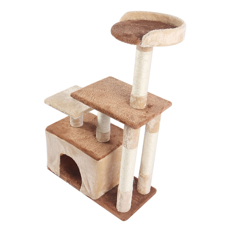 Double color cat climbing frame with cat nest