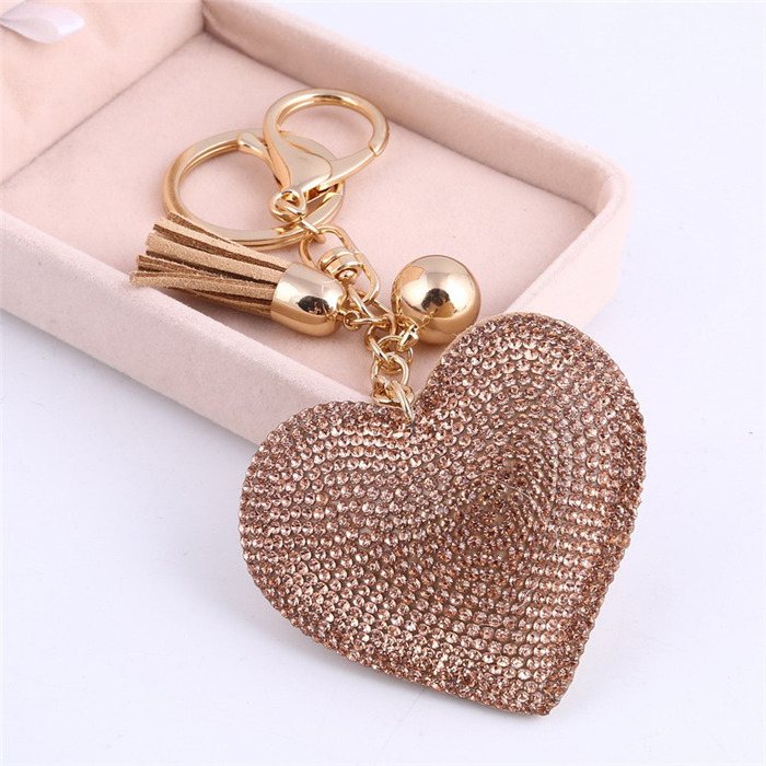 Heart Keychain Leather