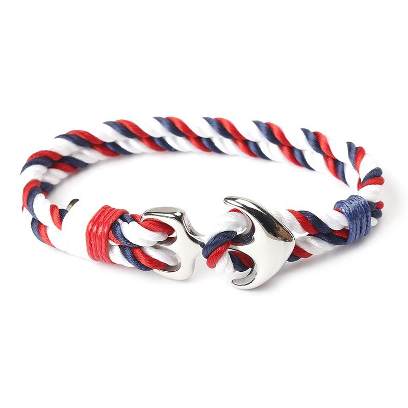 The navy wind hand-woven bracelet