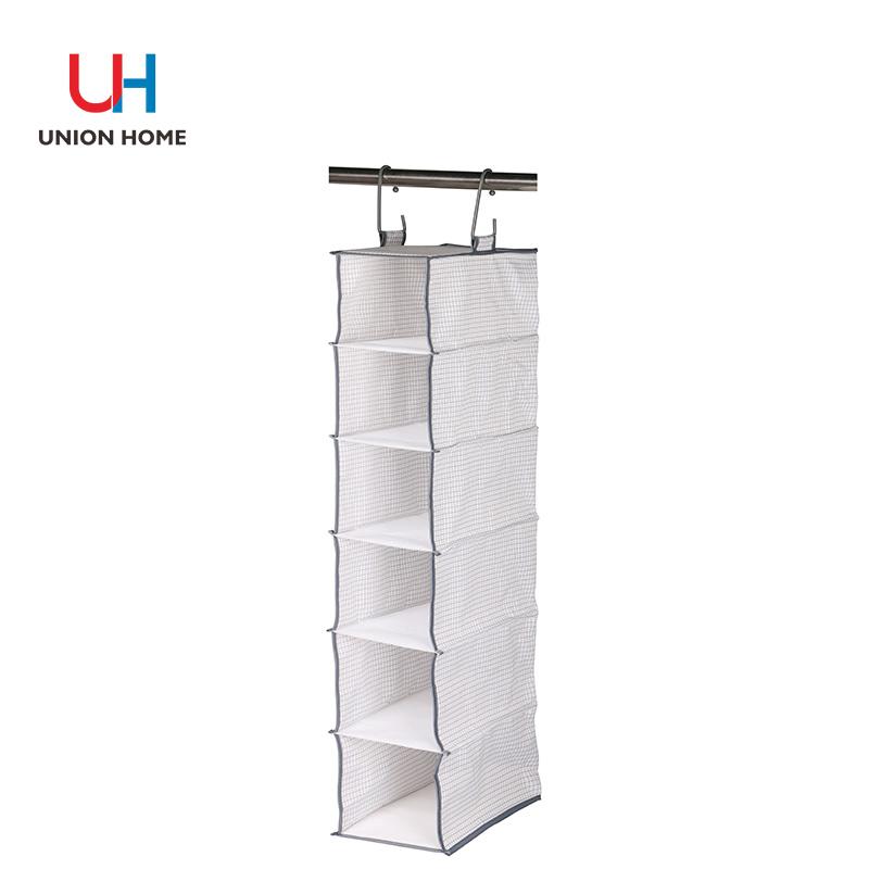 Nonwoven 6 tiers hanging closet organizer