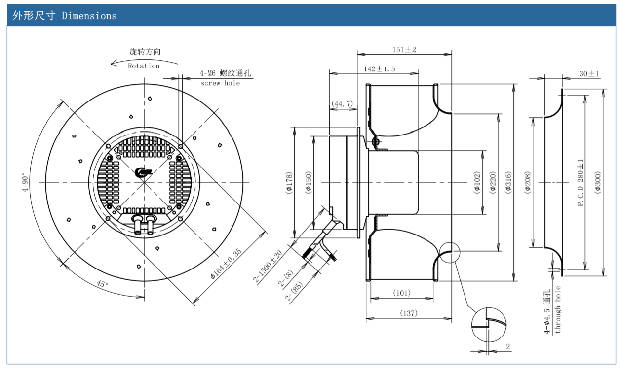 centrifugal fan inline