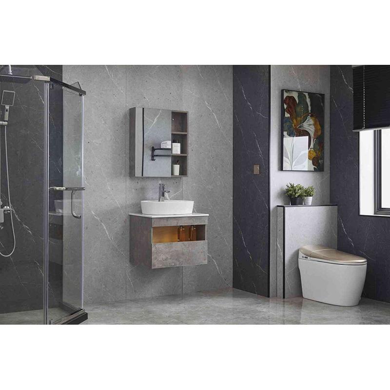 Bathroom cabinet with mirror storage