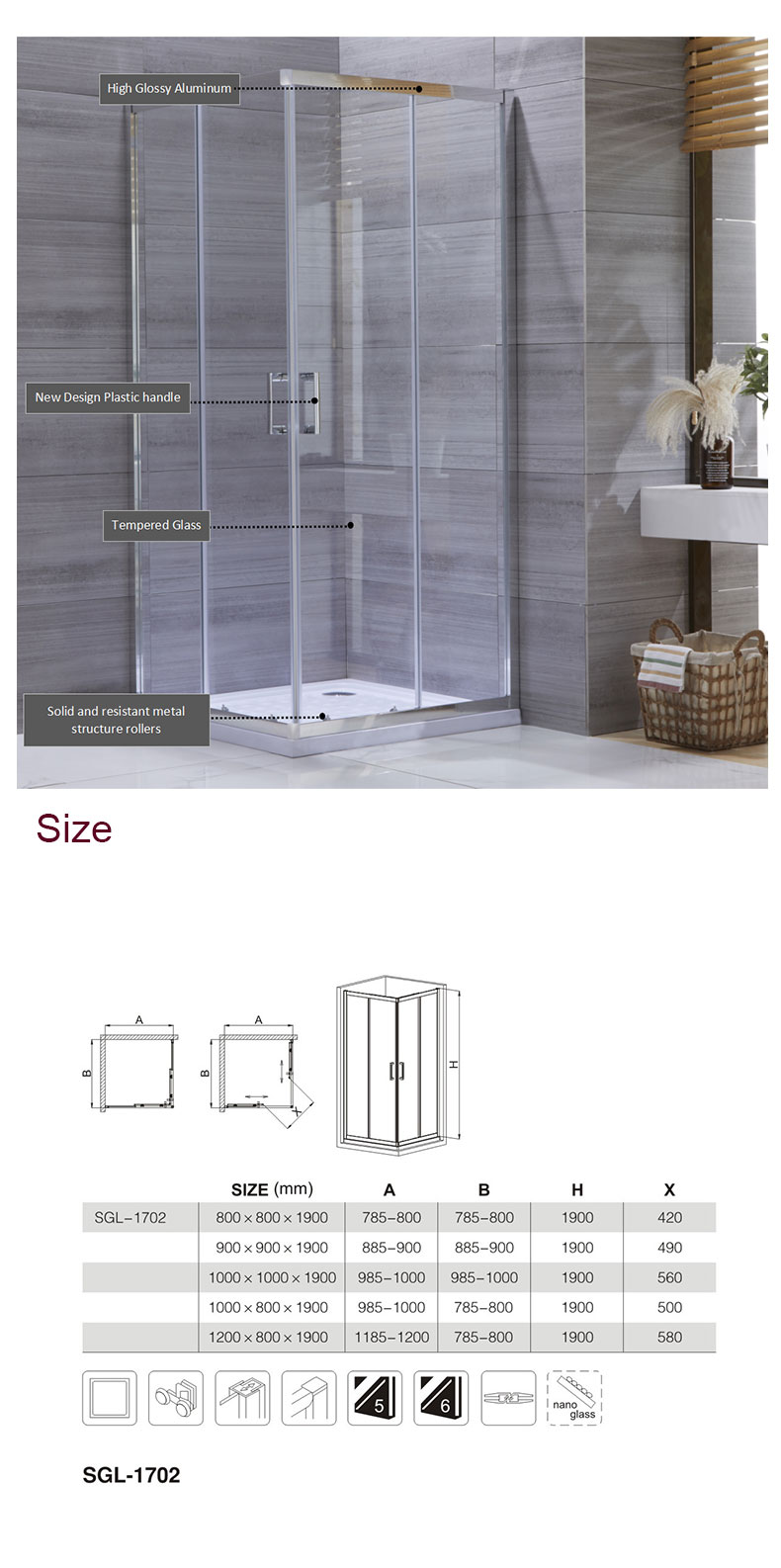 half wall shower enclosure manufacturers