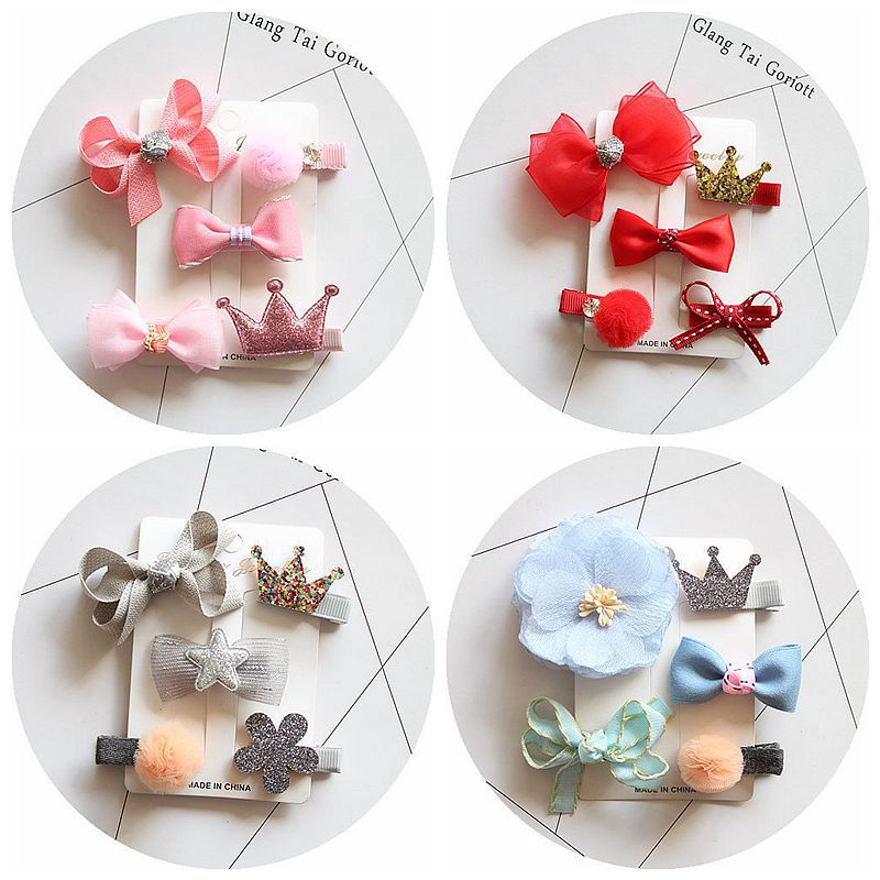 Baby girl flower hairpin suits