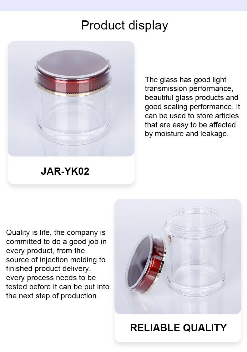 acrylic jars with lids bulk
