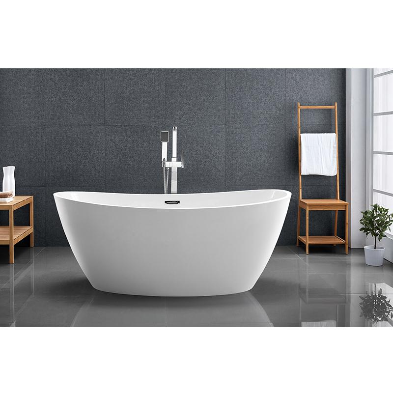 Freestanding White Acrylic Bathtub manufacturers