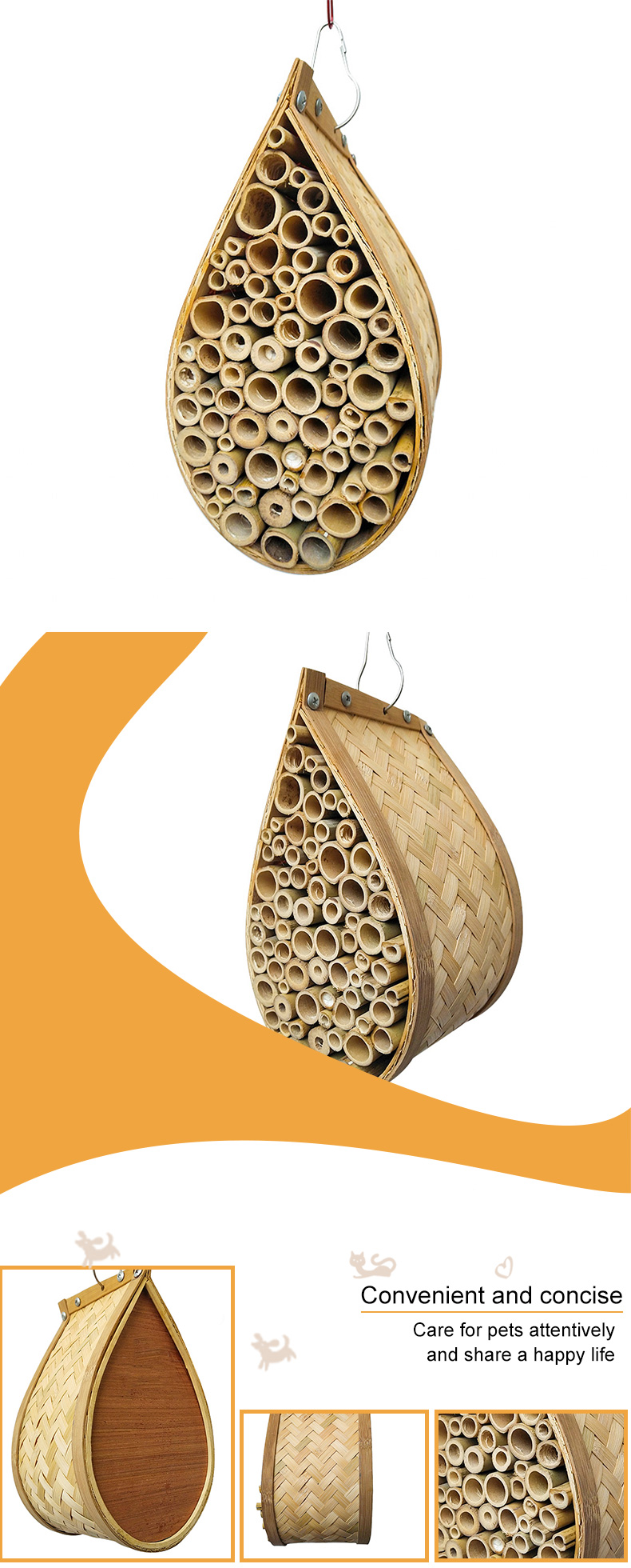 bamboo insect nests pet supplies