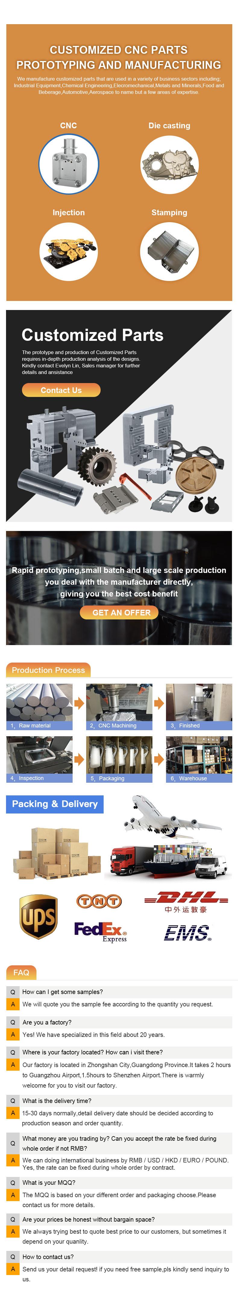 cnc milling machine parts components