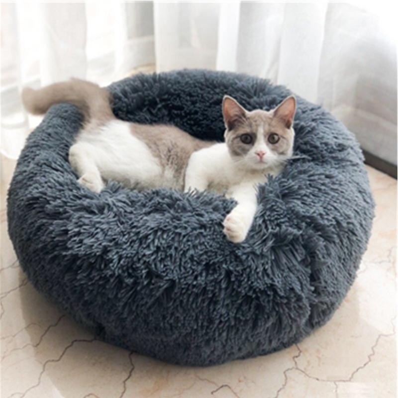 Plush dog bed