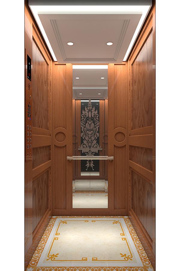 Golden St. St. Round Handrail Cozy Home Elevator