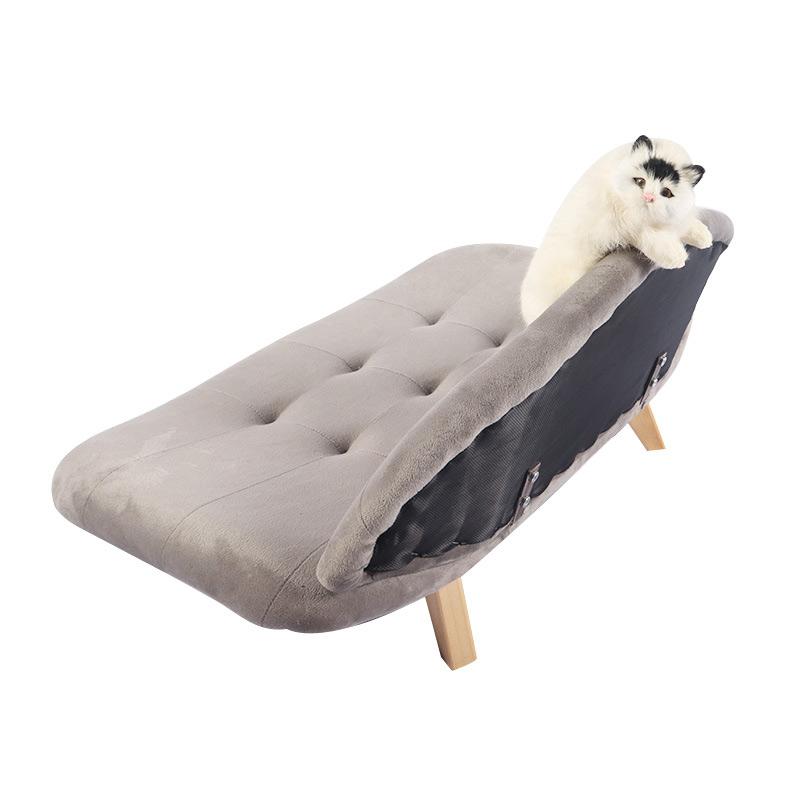 Grey cat sofa with backrest