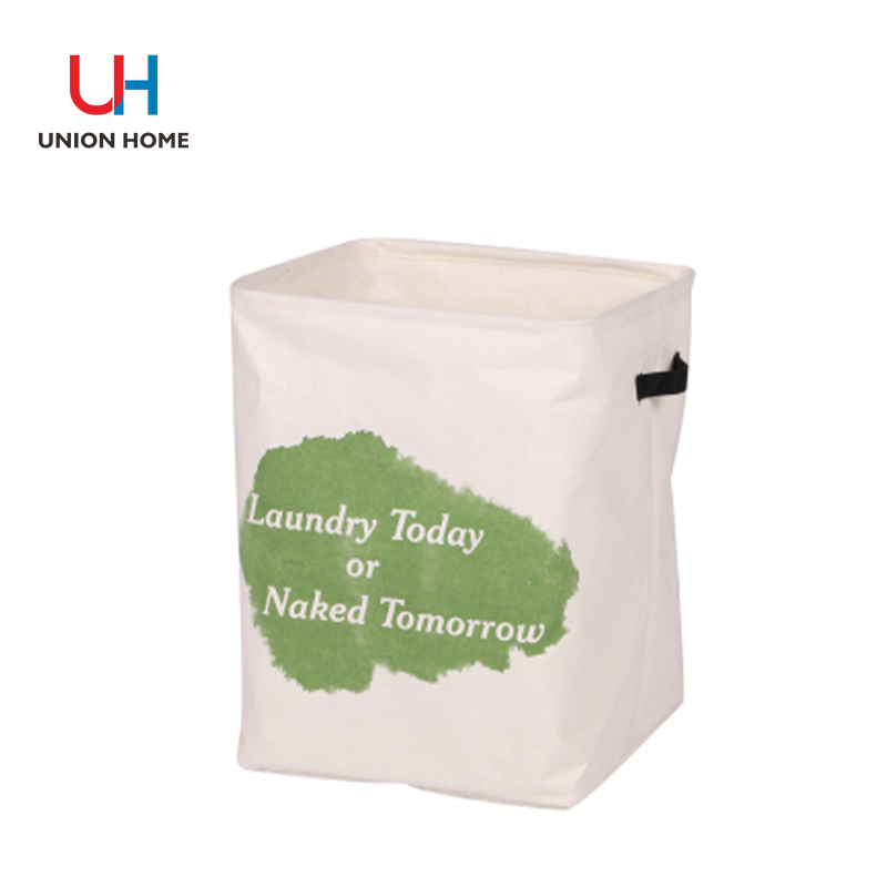 Poly cotton with pe coating laundry basket