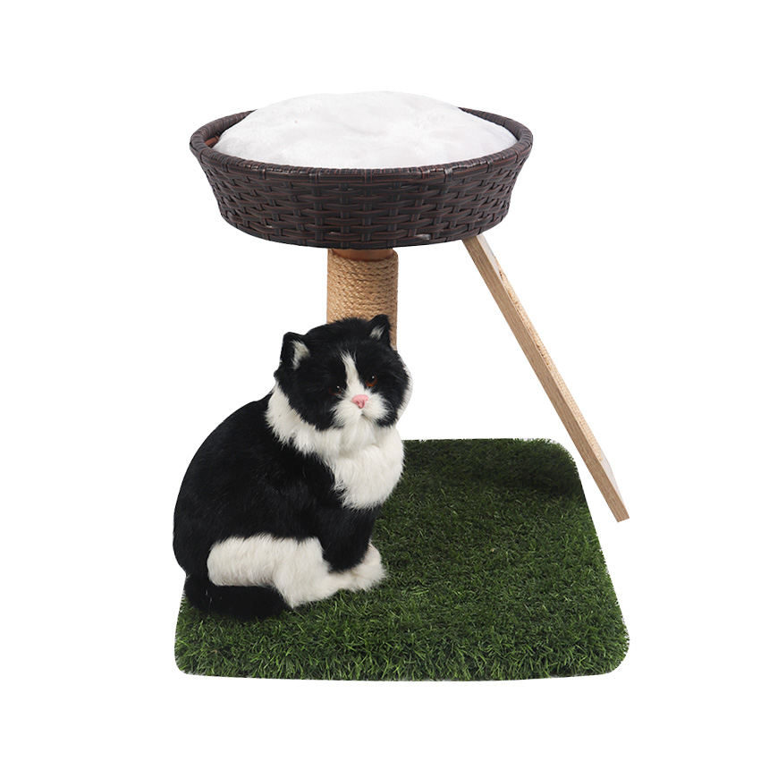 Double - layer rattan breezy cat nest