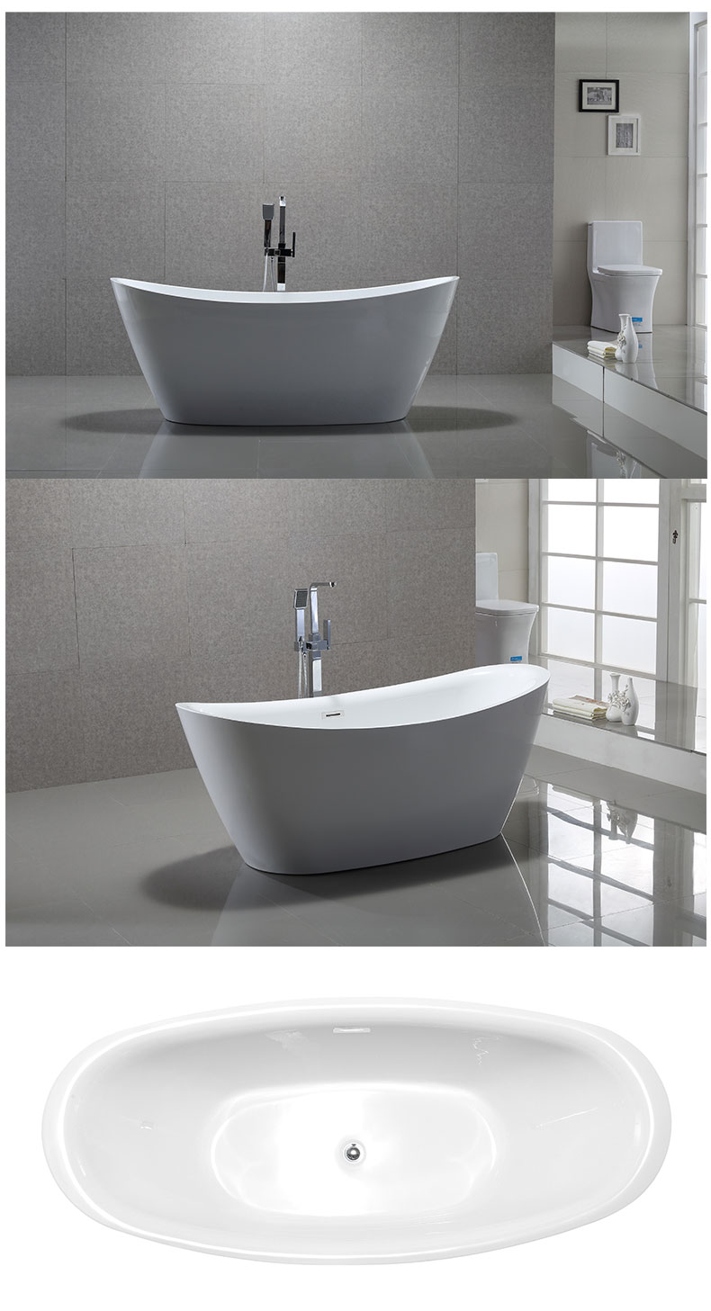 72 inch freestanding bathtub
