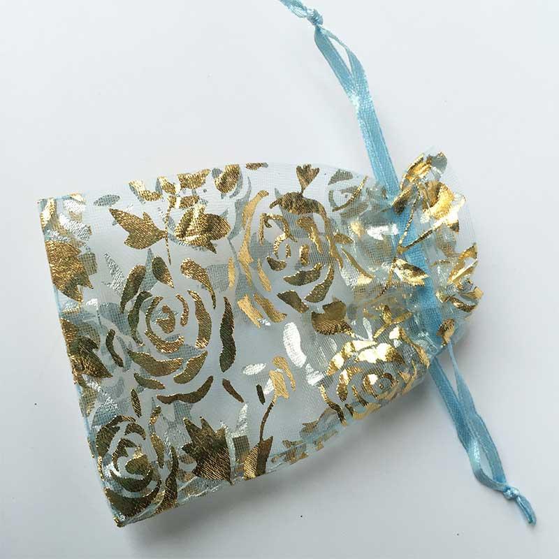 organza fabric drawstring bag
