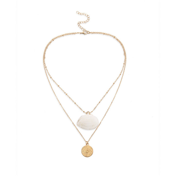 Shell Scallop Pendant Necklace